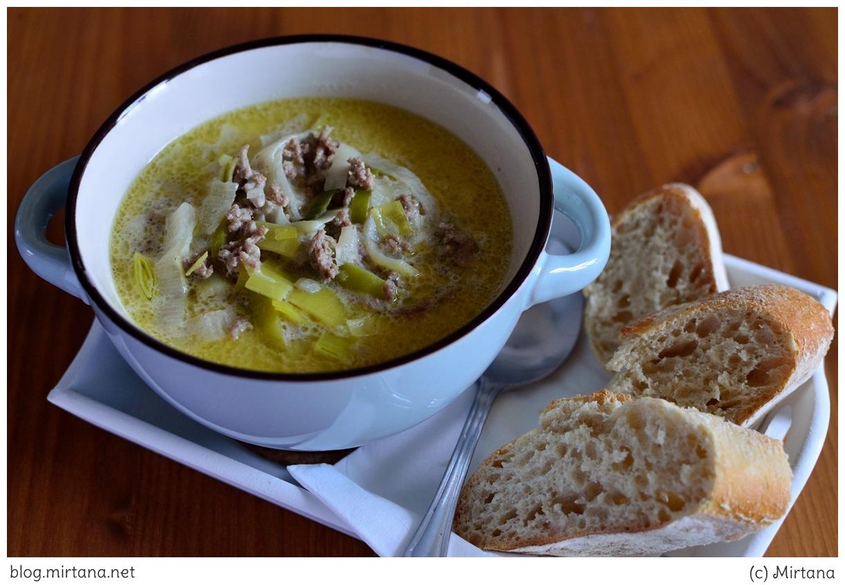 Lauch-Käse-Suppe, Suppe, Lauch, Montagsrezept