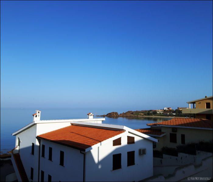 Sardinien Portoscuso Aussicht Balkon