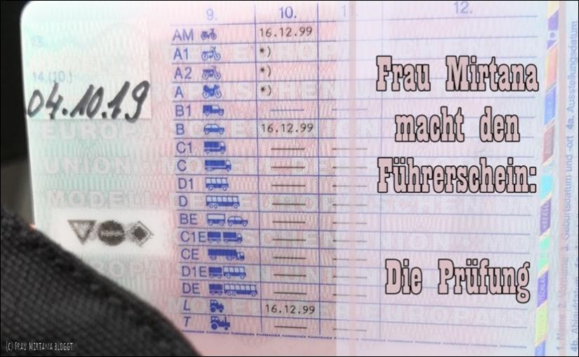 Frau Mirtana macht den Führerschein: Die Prüfung.